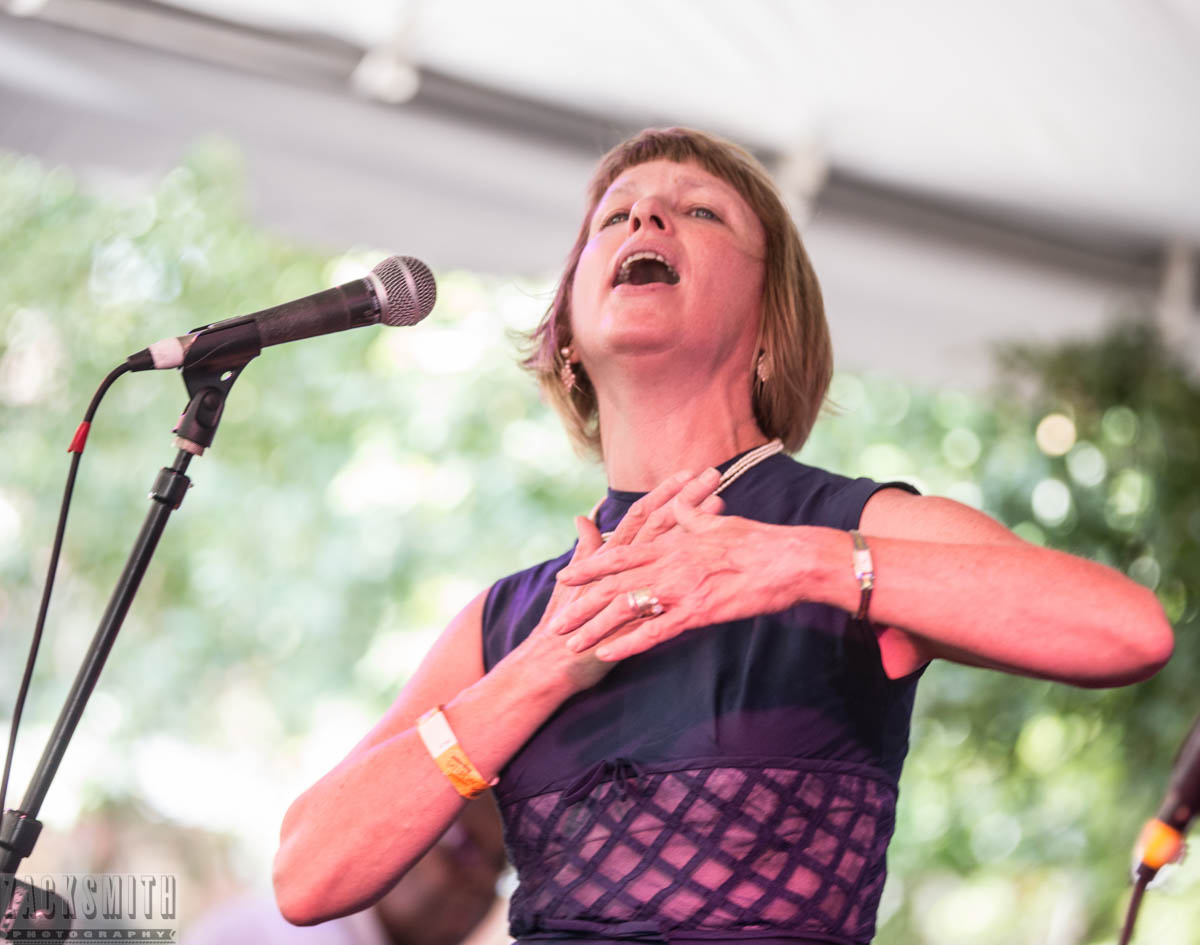 Jane Harvey Brown serenades the crowd with