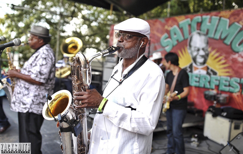 Dirty Dozen Brass Band at the Red Beans and Riceley Yours Stage at Satchmofest 2016
