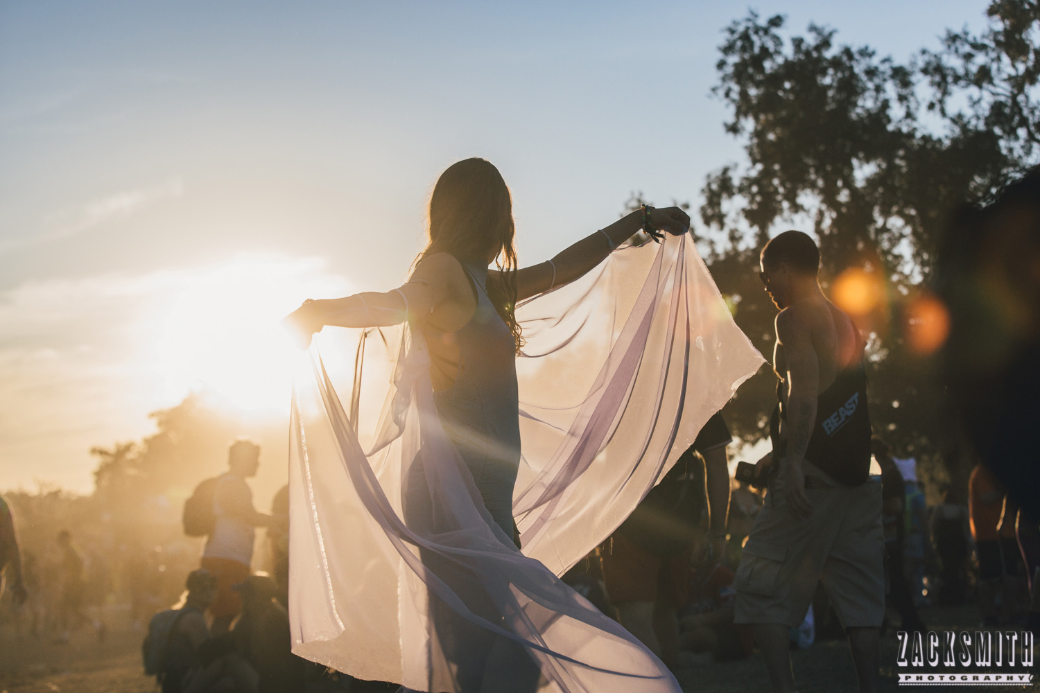 Silhouetted dancer at Voodoo Fest 2016