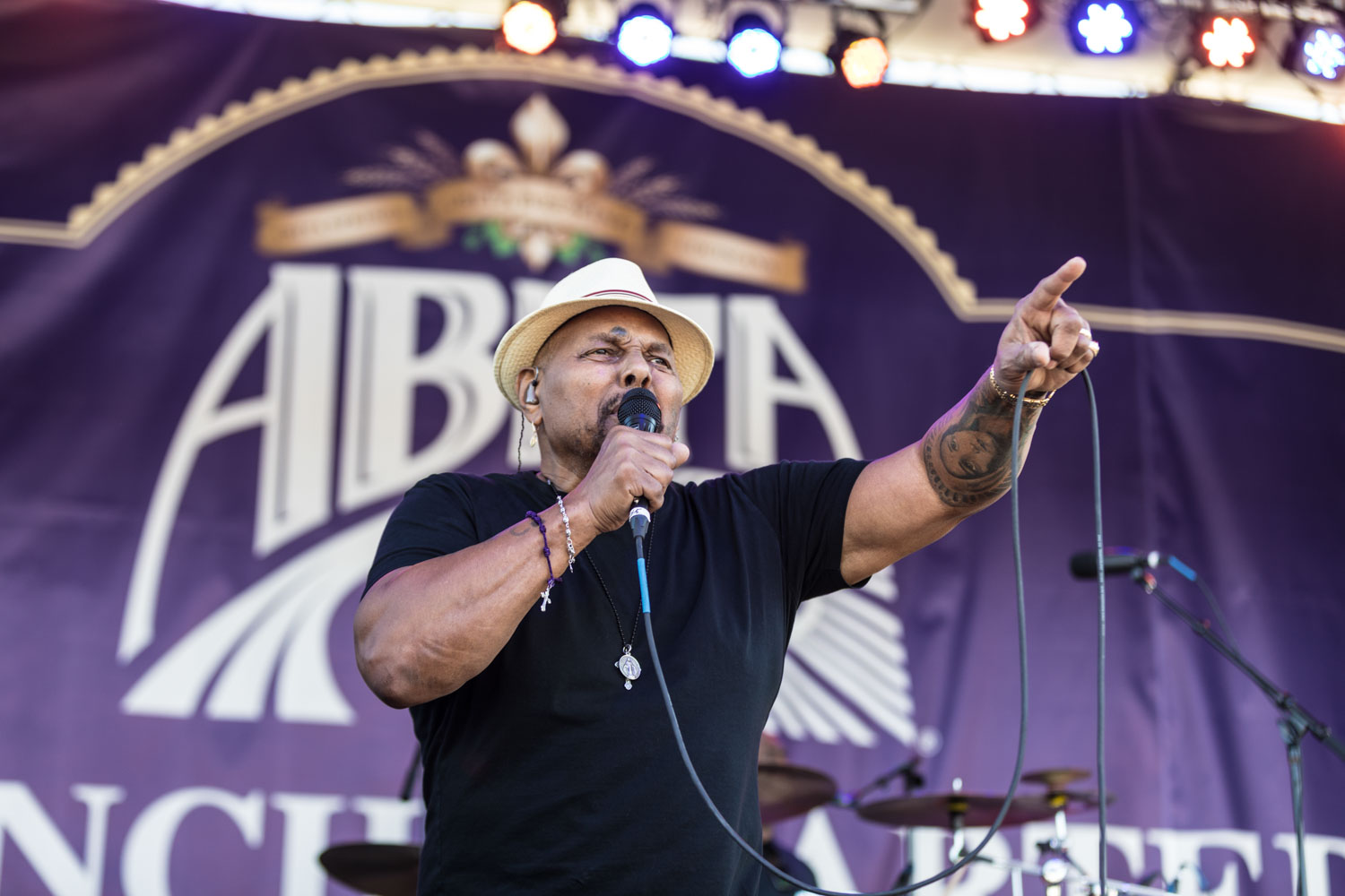 Aaron Neville performs on the Abita Beer Stage, this was his first French Quarter Fest show.