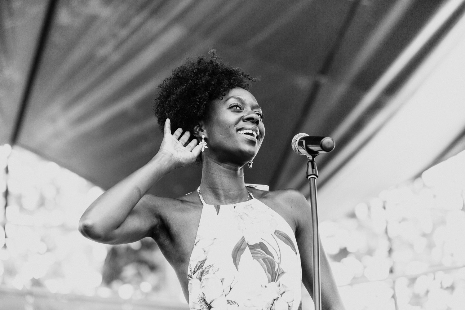 Singer Nayo Jones opens up day two of French Quarter Fest on Friday, April 7th.