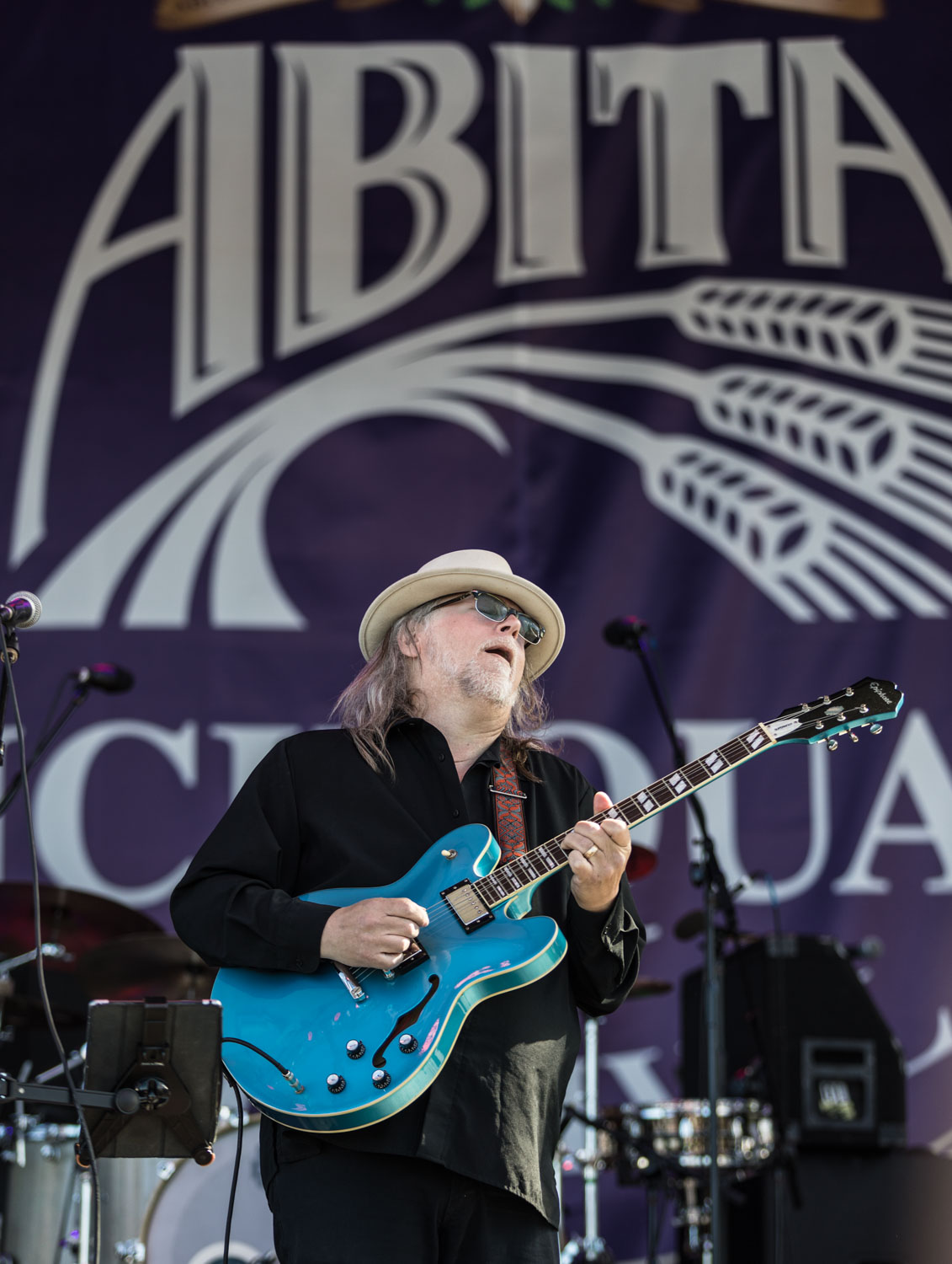 Papa Mali sounded terrific at the Abita Stage during French Quarter Fest.