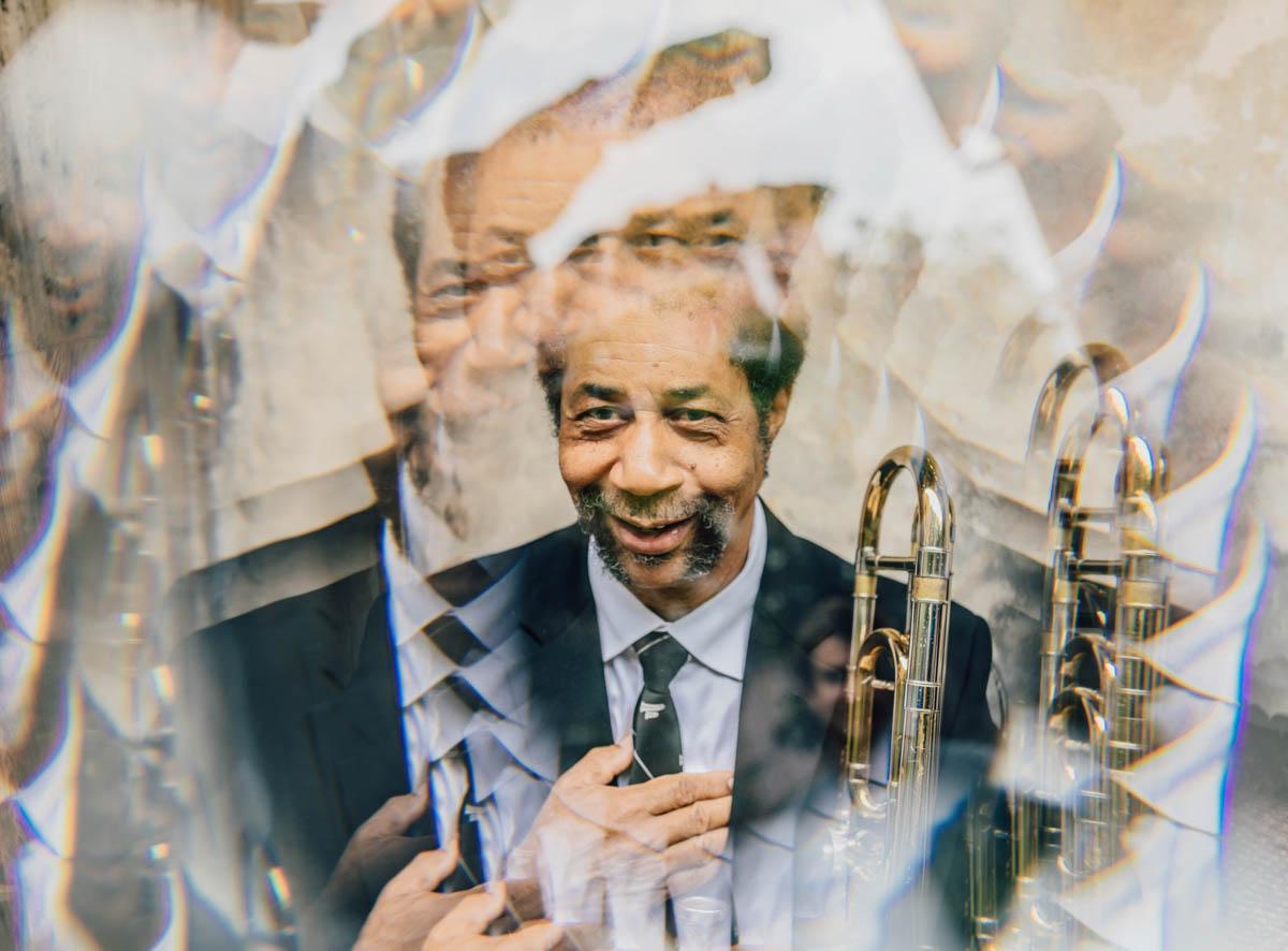Freddie Lonzo photographed through my Fractal Filter Prism!