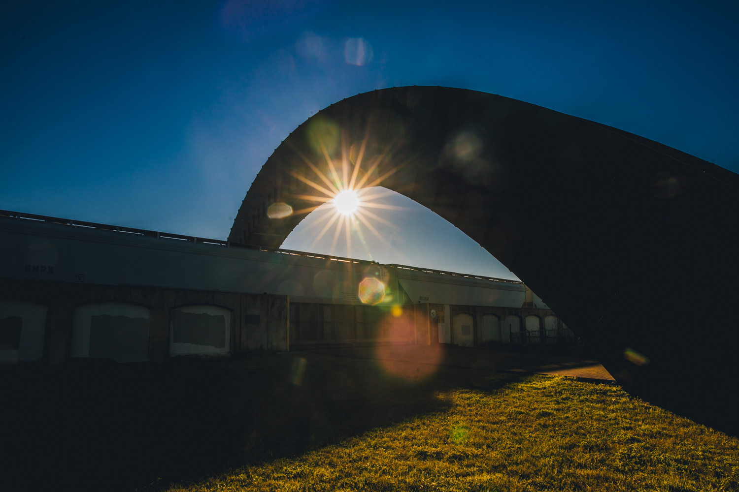 I shot this sun starburst at Crescent Park in New Orleans!